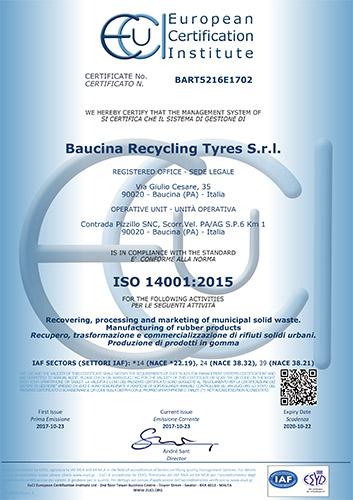 brt - baucina recycling tyres srl - brt pfu